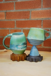 Textured mugs by Jenanne Longman